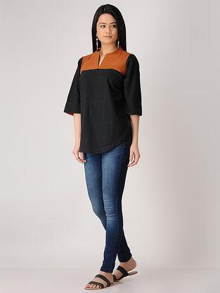 Black-Rust Khadi Top