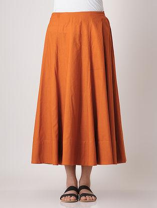 Rust Elasticated Waist Skirt