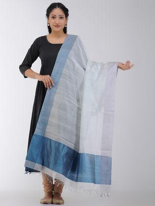 Grey-Blue Maheshwari Dupatta