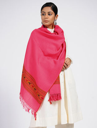 Pink Wool Blend Stole