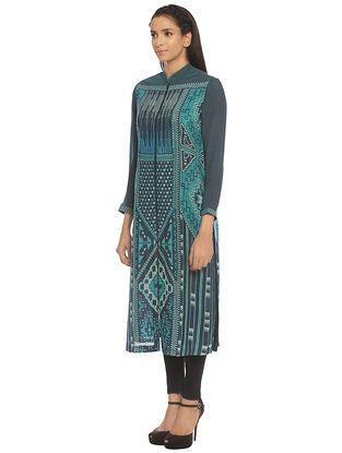 Turquoise Silk Kurta