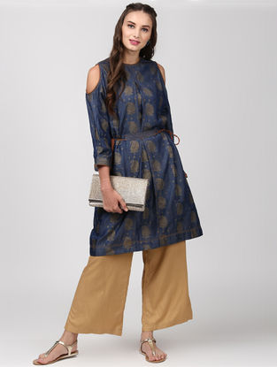 Indigo Tie-up Waist Denim Kurta