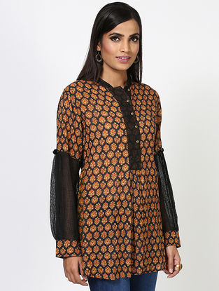 Black Viscose Kurta
