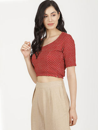 Red Viscose Blouse