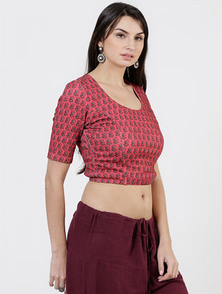 Maroon Viscose Blouse