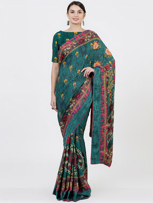 Green Organic Fibre Saree