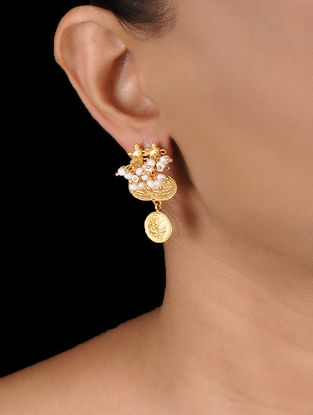 Pearl Gold-plated Silver Earrings