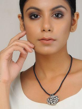 Black Thread Silver Necklace