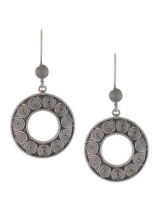 Silver Earrings with Spiral Motif