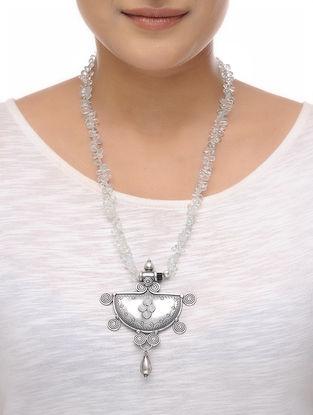 Aquamarine Beaded Silver Necklace