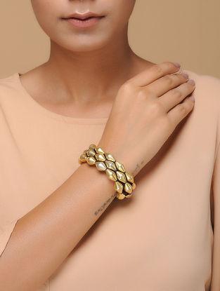 Gold Tone Tribal Silver Bracelet