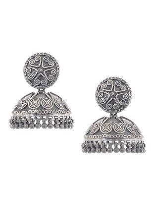 Tribal Silver Jhumkis