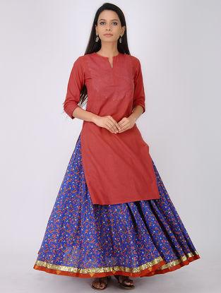 Red Handloom Kangri Quilted Cotton Kurta