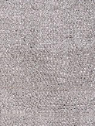Taupe Tussar Silk Fabric