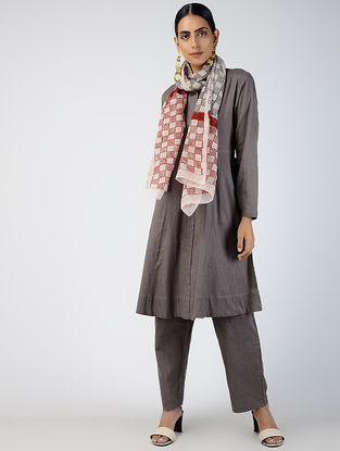 Kashish Front-open Cotton Slub Kurta with Pockets