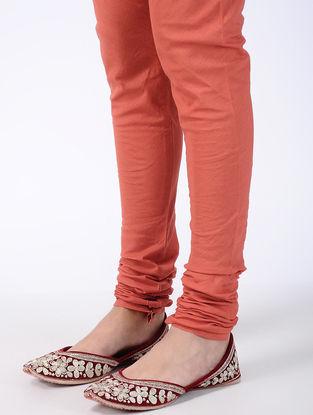 Peach Elasticated Waist Cambric Cotton Churidar