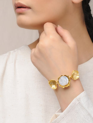 Gold Plated Brass Adjustable Bracelet