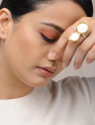 Gold Plated Brass Adjustable Ring