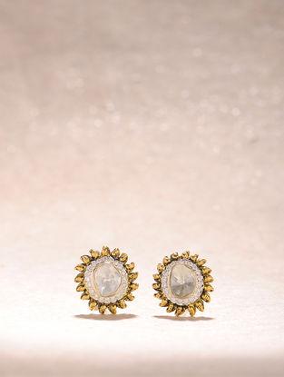 Diamond and Polki Gold Earrings