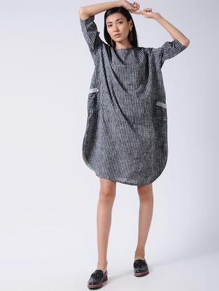 Grey-Black Striped Cotton Tunic