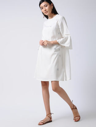 Ivory Embroidered Cotton Tunic