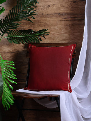 Red Cotton Cushion Cover (15.5in x 15.5in)
