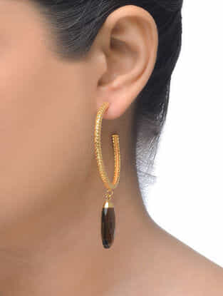 Smoky Gold Tone Earrings