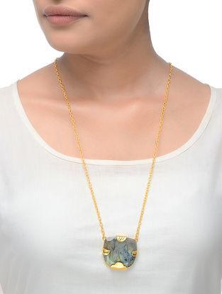 Labradorite Gold Tone Necklace