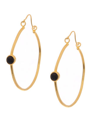 Black Gold Tone Earrings