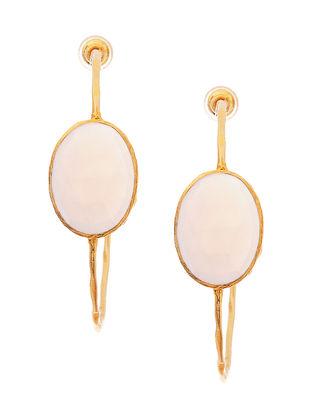 White Gold Tone Earrings