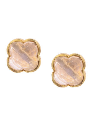 Pink Gold Tone Earrings