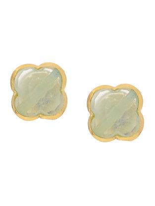 Grey Gold Tone Earrings