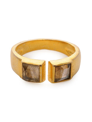 Brown Gold Tone Adjustable Ring
