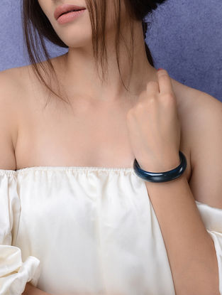 Blue Glass Crystal Bangles -Size 2/6