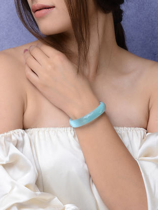 Blue Glass Crystal Bangles -Size 2/4