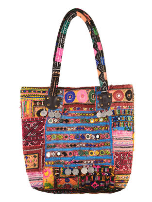Multi-Color Embroidered Gypsy Tote Bag
