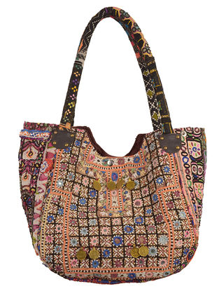 Multi-Color Tribal Embroidered Tote Bag