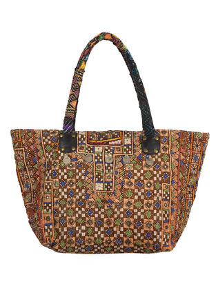 Multi-Color Gypsy Embroidered Tote Bag