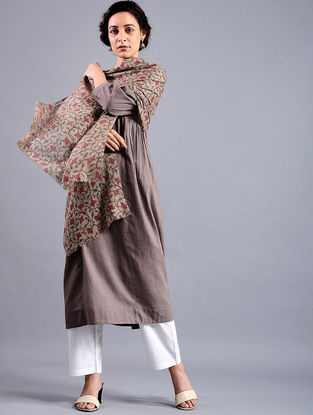Block-printed Wool Shawl