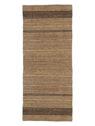 Handspun Cotton-Silk Metallic Yarn Floor Runner 104in X 35in