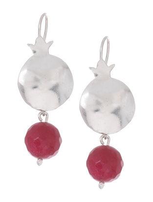 Quartz Silver Earrings