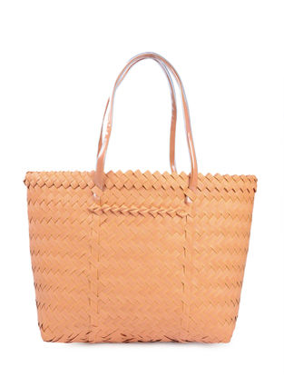 Peach Handwoven Basket - 18.5in x 5in x 13in