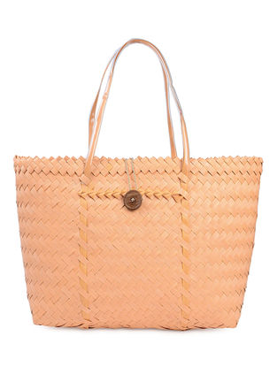 Orange Handwoven Basket - 21in x 5.5in x 15in