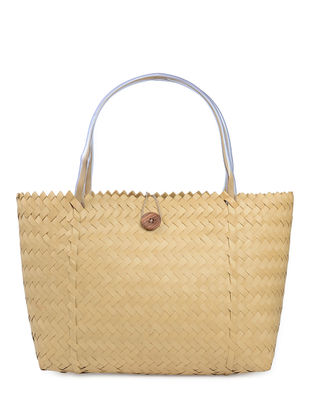 Beige Handwoven Basket - 21in x 5.5in x 13.5in