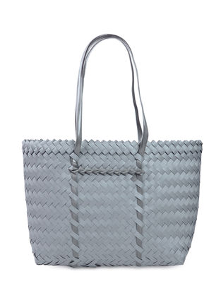 Grey Handwoven Basket - 19in x 5in x 13in