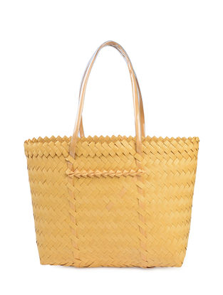 Orange Handwoven Basket - 19in x 5.5in x 13in