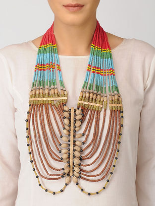 Multicolored Handcrafted Beaded Vintage Necklace