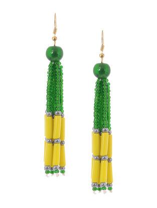 Green-Yellow Glass Beads Earrings