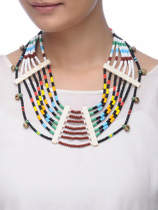 Multicolored Glass Beads Necklace