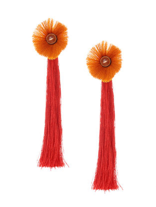Red- Yellow Earrings with Tassels